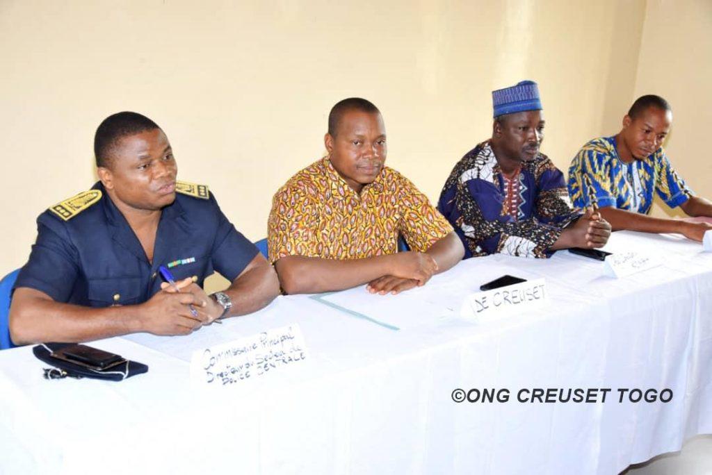 Les Officiers de Police Judiciaire et les membres de Creuset Togo en séminaire à Sokodé