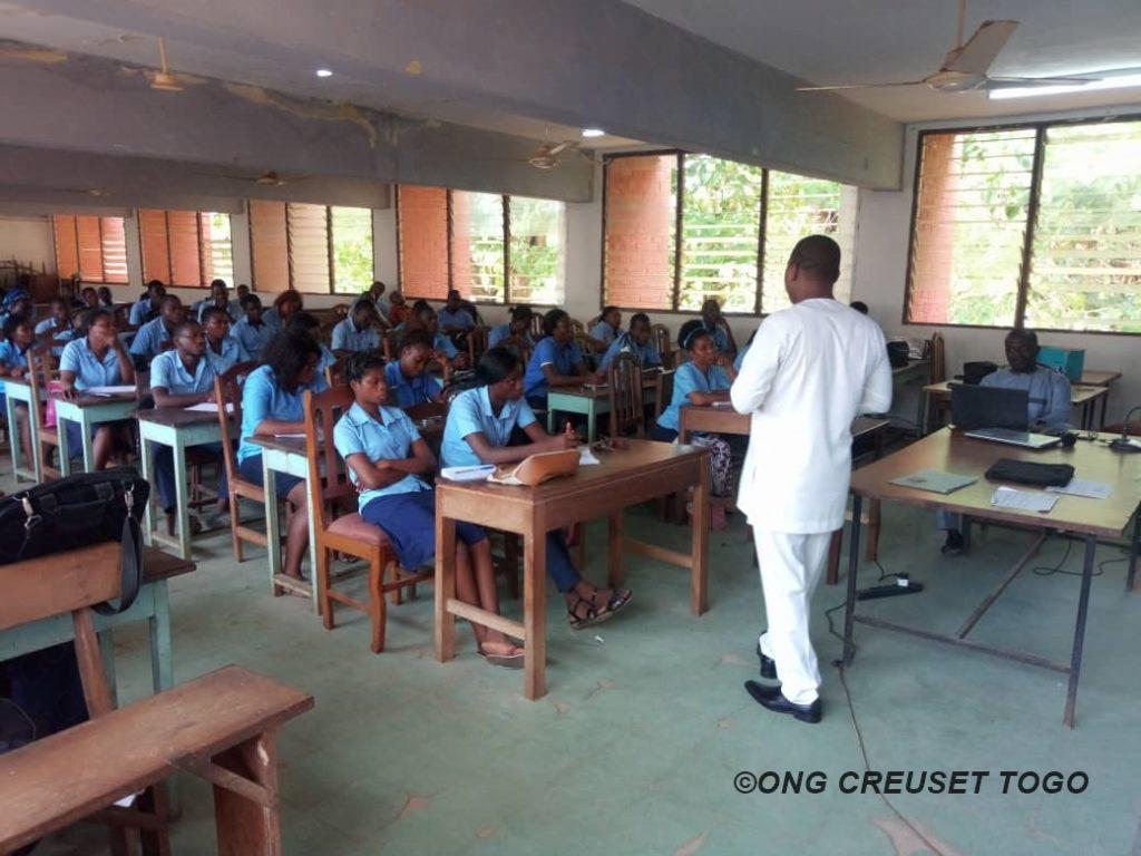 Creuset Togo à l'Ecole Nationale de Formation Sociale