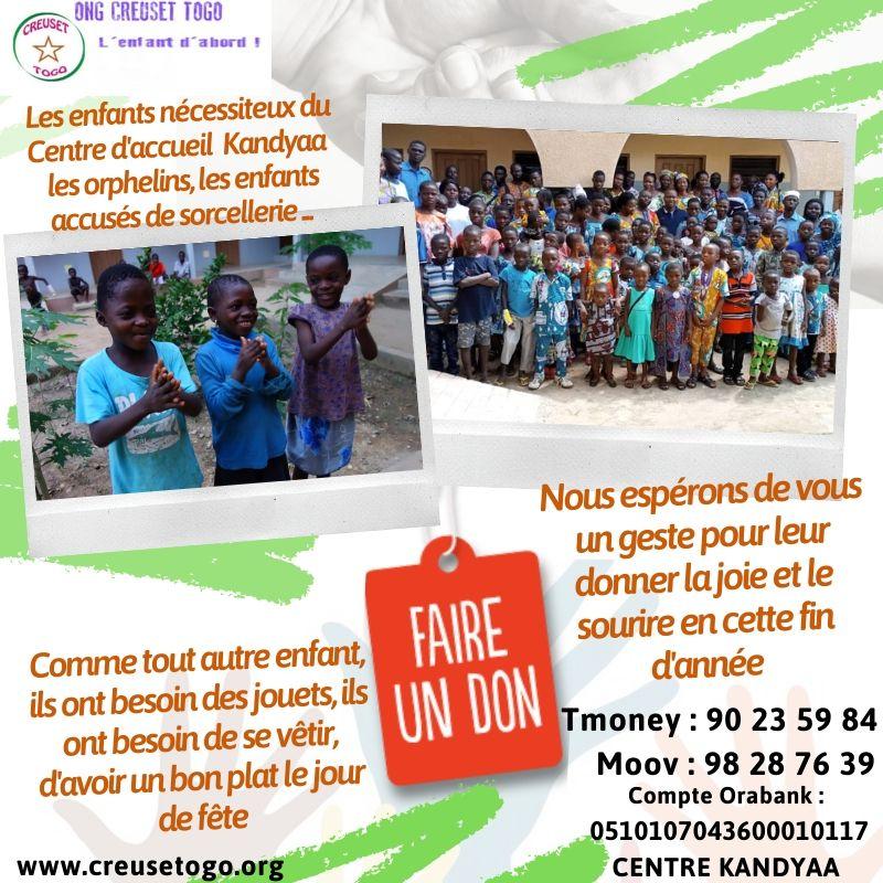 Les «Professionnels du Développement Social» du Togo donnent le sourire aux enfants du Centre Kandyaa à Sokodé.