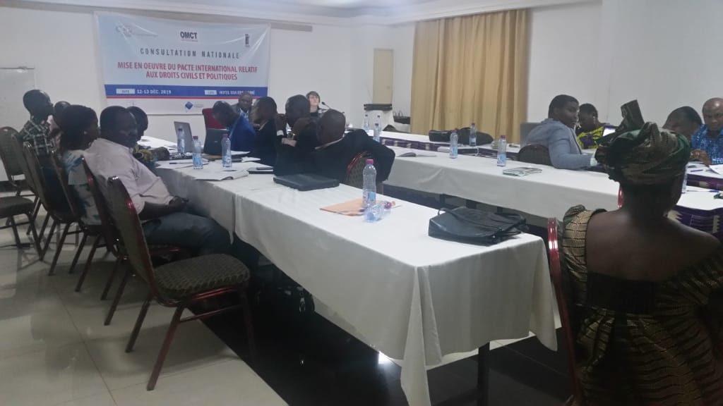 Atelier de la mise en oeuvre du pacte International relatif au droit civil et politique dans le processus d'examen du cinquième rapport de l'Etat togolais.