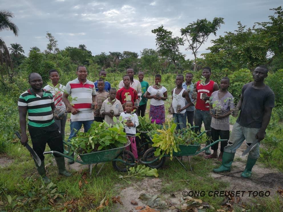 Journée de l'arbre à la ferme de Creuset Togo