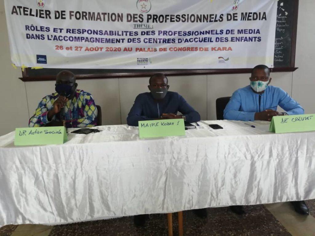 Creuset Togo et les acteurs de protection de l'enfance rencontrent les professionnels de médias à Kara.