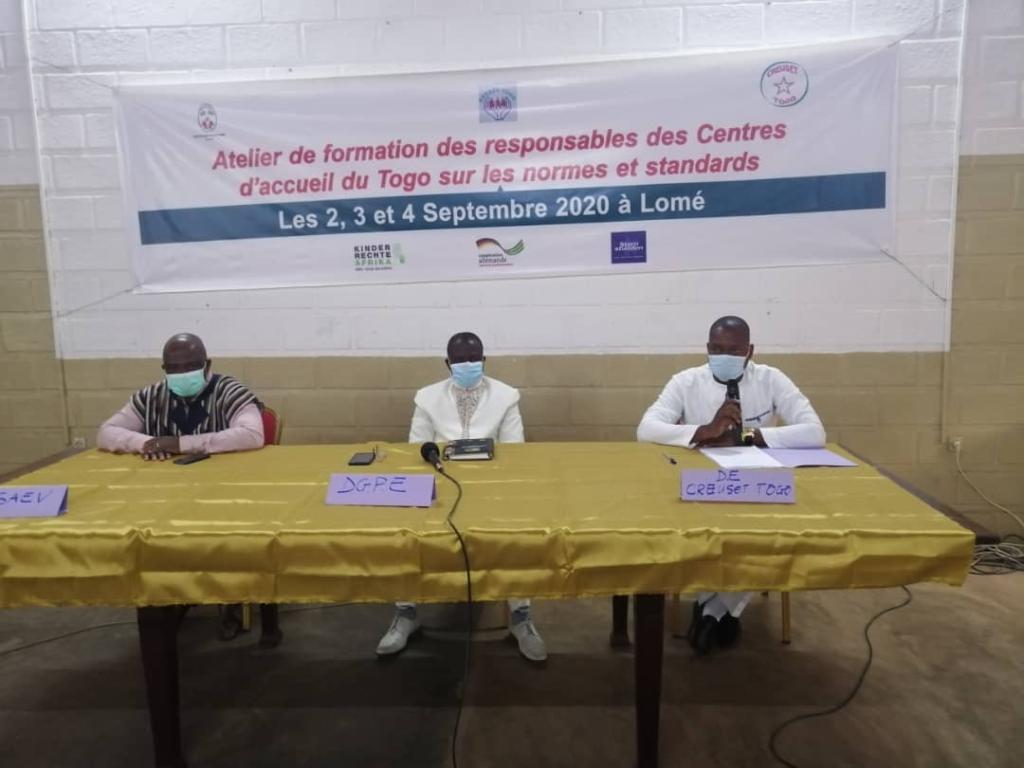 Formation sur les normes et standards applicables aux structures d'accueil et de protection des enfants vulnérables au Togo