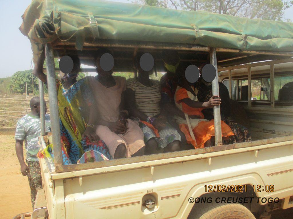 Six (06) enfants togolais victimes de traite interceptée au Ghana par le service d'immigration