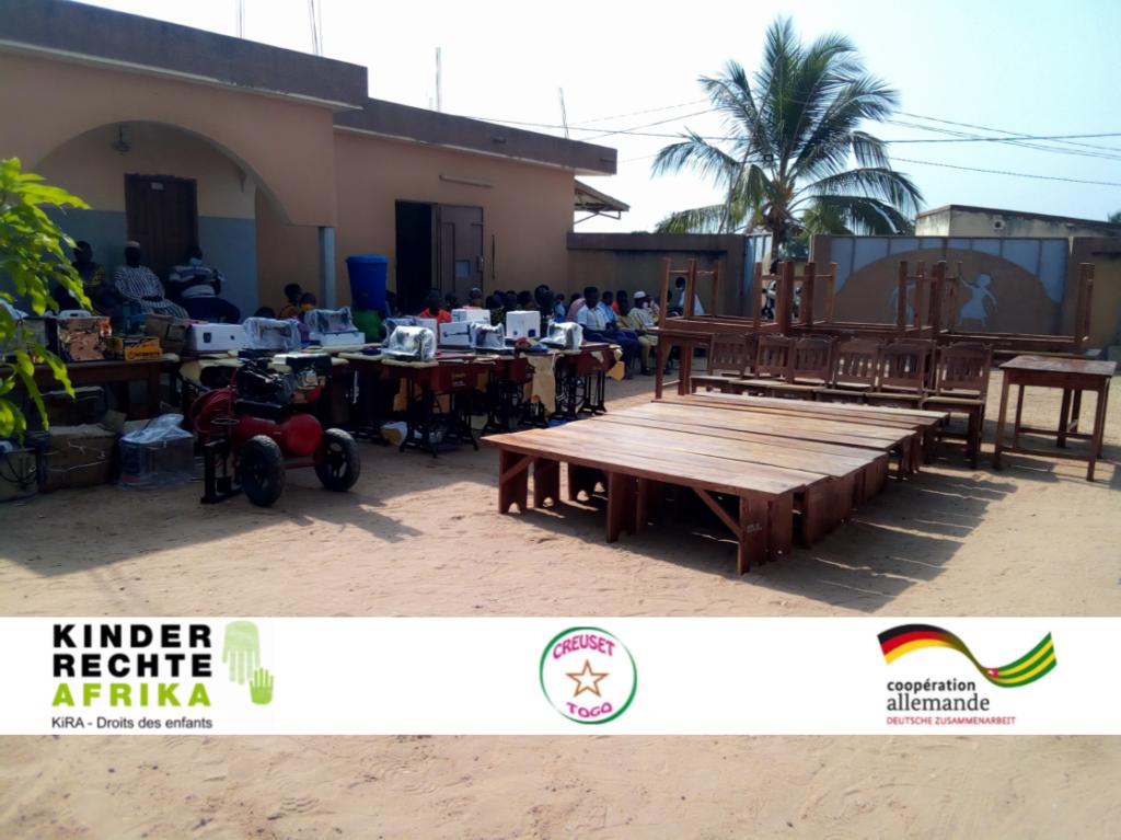 La réinsertion professionnelle des jeunes, un défi pour l'ONG CREUSET Togo et ses partenaires.