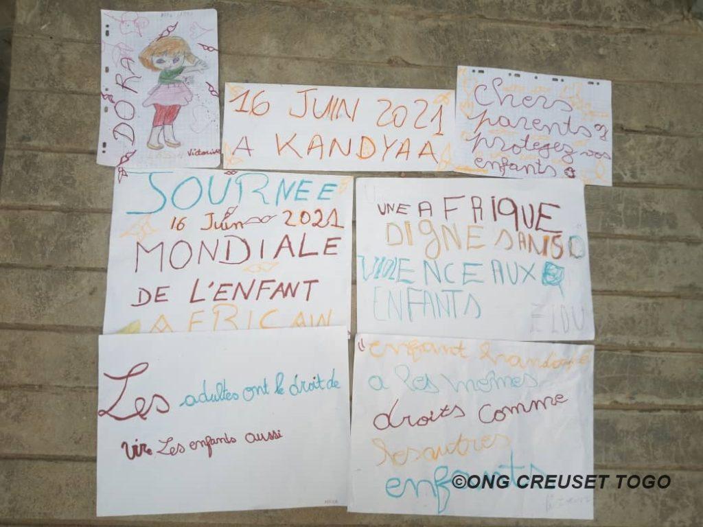 Célébration de la journée de l'enfant africain au centre Kandyaa de CREUSET TOGO